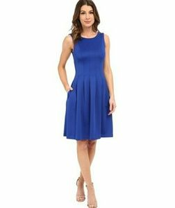 Calvin Klein pleated fit and flair dress size 6